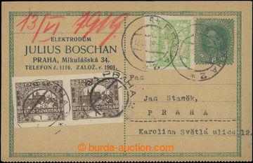 208634 - 1919 Maxa B64, identifikační dopisnice s firemním přítiskem,