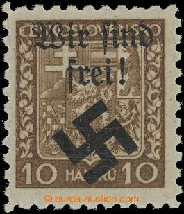 208643 - 1939 MÄHRISCH OSTRAU / Mi.2x, Znak 10h hnědá, pergamenový pa