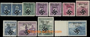208644 - 1939 MÄHRISCH OSTRAU /  Mi.6-10, 14, 17-19, sestava 11ks zn.