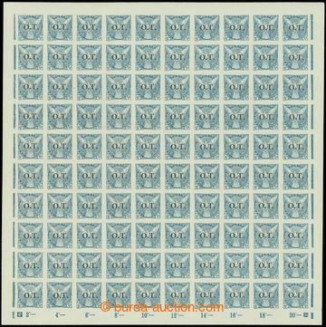 208671 -  Pof.OT2, Známky pro obchodní tiskopisy 20h modrá s přetiske