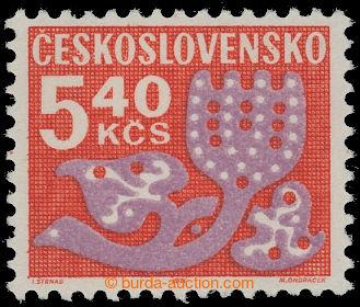208745 - 1971 Pof.D102yb, Květy 5,40Kčs, papír fl2; luxusní, označeno