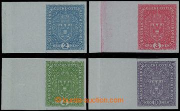 208762 - 1918 VÝPLATNÍ / VELKÝ FORMÁT  ANK 204IzU-207IzU, Znak 2K-10K