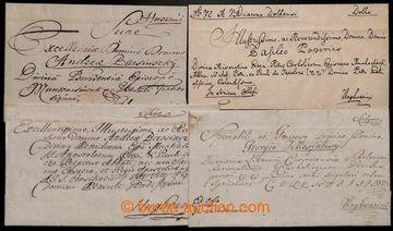 208775 - 1806-1839 sestava 4ks ex offo předznámkových dopisů zaslanýc