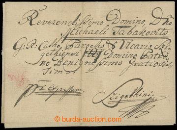 208776 - 1813 KESSELYMEZÖ (KOŠELOVO)  skládaný Ex-dopis adresovaný do