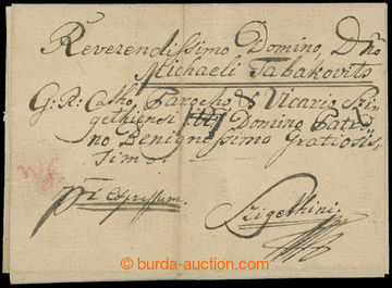208776 - 1813 KESSELYMEZÖ (KOŠELOVO)  folded Express letter addressed