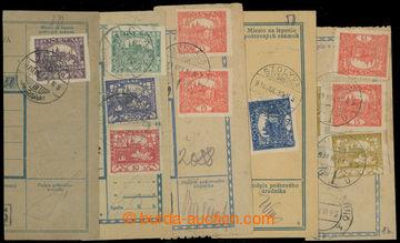 208777 - 1919-1920 TECSO, CSAP, SZOLYVA, MUNKACS  sestava 5ks ústřižk