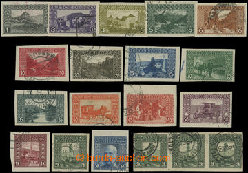 208841 - 1906 ANK.29-44U, Landscape 1H - 5 Koruna, complete set + Mi.