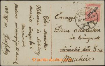 208858 - 1919 PŘEDBĚŽNÉ / MUNKÁCS  pohlednice vyfr. předběžnou maďars