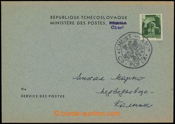 208872 - 1944 CHUST  úřední obálka s maďarskou zn. 1Pengo s přetiskem