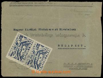 208899 - 1945 CHUST  již použitá obálka adresována do Budapešti, vyfr