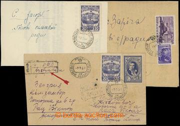 208972 - 1946-1948 BUŠTINO, IRŠAVA, VELKÝ BEREZNÝ  sestava 3ks celist