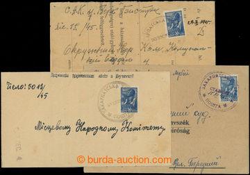 208974 - 1945 VOLOSIANKA, STANOVO, BUŠTINO  sestava 3ks skládaných do