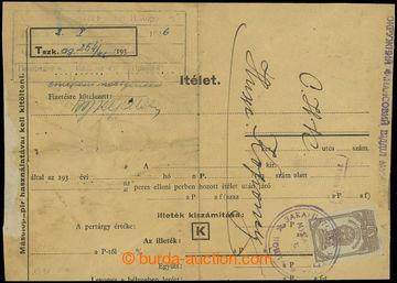 208976 - 1945 MUKAČEVO  skládaný úřední dopis vyfr. ruskou příležitos