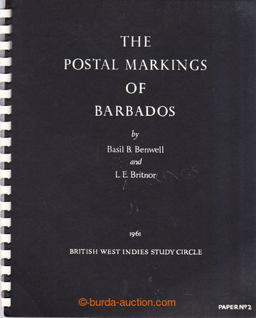 209024 - 1961 BARBADOS / THE POSTAL MARKINGS OF BARBADOS, Benwell a B
