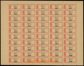 209074 - 1941 protektorátní R-nálepky BRNO 13 a BRNO 14, 2 kompletní