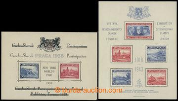 209077 - 1939-1943 AS1 + AS2a + AS10a, sestava 3ks exilových aršíků,
