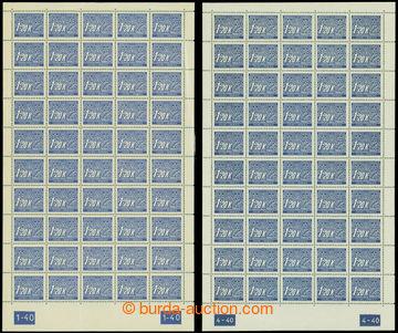 209147 - 1939 ARCHOVINA / Pof.DL10, hodnota 1,20K, 2x kompletní 50ks