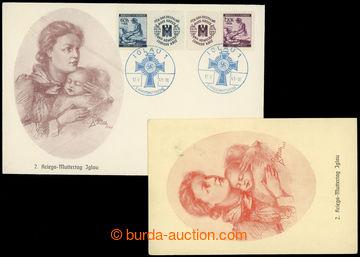 209151 - 1941 PR51 / 2. Kriegsmuttertag, obálka a pohlednice s přítis