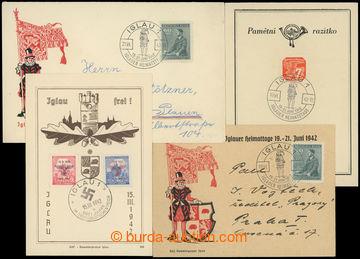 209152 - 1942 PR100 / Iglauer Heimatstage, sestava obálky, lístku a n
