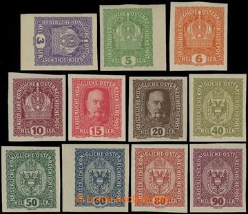 209165 - 1916 VÝPLATNÍ / MALÝ FORMÁT / ANK.185-198, sestava 11 nezoub