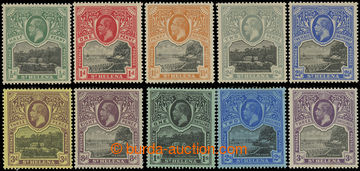 209168 - 1912-1916 SG.72-81, Jiří V. 1/2P-3Sh; velmi pěkná a kompletn