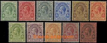 209184 - 1913 SG.129-139, Jiří V. 1/2-3Sh; kat. £55