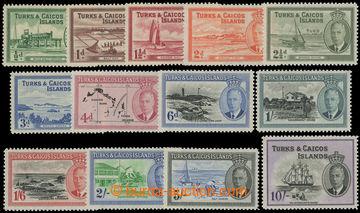 209186 - 1950 SG.221-233, Jiří VI. Krajinky 1/2-10Sh; bezvadná série,