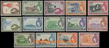 209187 - 1954 SG.14-27, Alžběta II. 1/2P- 10Sh; luxusní, kat. £9