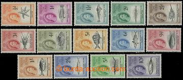 209188 - 1960 SG.28-41, Alžběta II. Mořská fauna 1/2P- 10Sh; kat. &#1