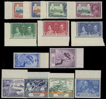 209208 - 1935-1949 SG.139-142, 143-145, 164-165, 166-167,  25 let vlá