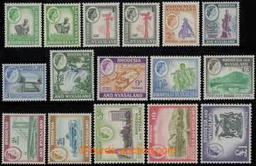209212 - 1959-1962 SG.18-31, Alžběta II. Lokální motivy 1/2P-1£;