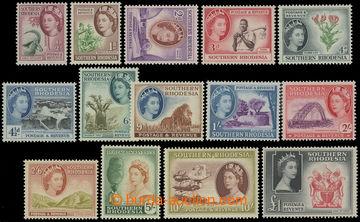 209213 - 1953 SG.78-91, Alžběta II. Motivy 1/2P-1£; kat. £9