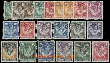 209216 - 1938 SG.25-45, Jiří VI. 1/2P-20Sh; kompletní série oblíbenýc