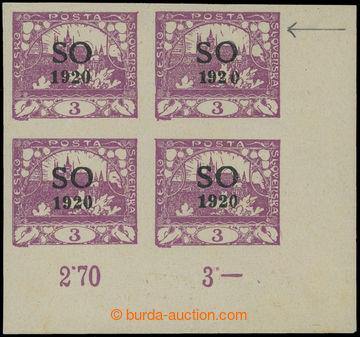209229 -  Pof.SO2RE, Hradčany 2h fialová, rohový 4-blok s retuší větv