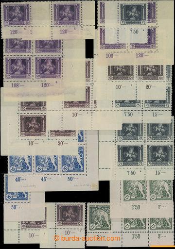 209234 -  Pof.27, 29, 30-32, sestava 17ks rohových 4-bloků nebo 2-pás