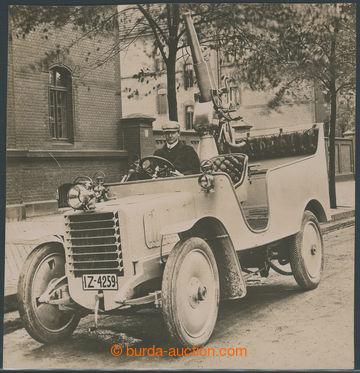 209275 - 1918 NĚMECKO / VÁLEČNÁ TECHNIKA  automobil s protibalonovým