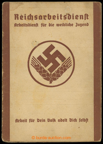 209276 - 1940 GERMANY / SUDETENLAND  passport RAD Reichsarbeitdienst