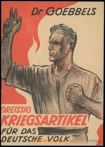 209278 - 1943 NĚMECKÁ NACISTICKÁ PROPAGANDA  dobová brožura Dr. Goebb