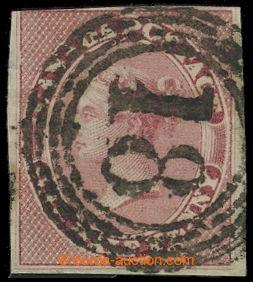 209279 - 1857 Sc.8, Viktorie ½P růžová, nezoubkovaná s kruho
