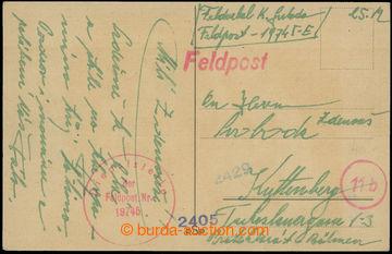209298 - 1944 ITÁLIE / pohlednice zaslaná čs. příslušníkem Vládního v