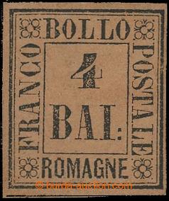209314 - 1859 Sas.5, 4Bai hnědožlutá; pěkný kus s původním lepem, zk.