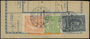 209320 - 1920 Maxa G18, ústřižek průvodky vyfr. zn. TGM 1920 500h a H