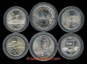 209338 - 1991 sestava 6 pamětních mincí: Dvořák 100Kčs 1991; Mozart 1