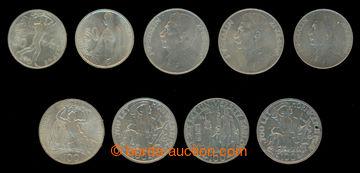 209339 - 1948-1949 sestava 9ks mincí: Karlova univerzita 100Kčs 1948;