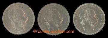 209341 - 1882-1889 FJ I. 1 Forint (změna znaku) 1882, 1888 a 1889; hr