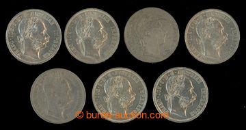 209342 - 1858-1879 FJ I. 1 Florin 1858, 1876, 1877 (3x), 1878, 1879;