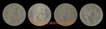 209344 - 1890-1891 FJ I. 1 Florin 1890, 1891 a 1892 (2x); hrany, sest