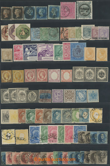 209345 - 1840-1950 PARTIE / mainly classic stamps on stock-sheet A4 +
