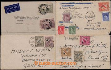 209351 - 1935-1939 sestava 4 dopisů do Vídně, vyfr. mj. SG.180a (vzác