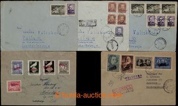 209381 - 1950 MĚNOVÁ REFORMA / sestava 7 většinou R-dopisů, přetisky